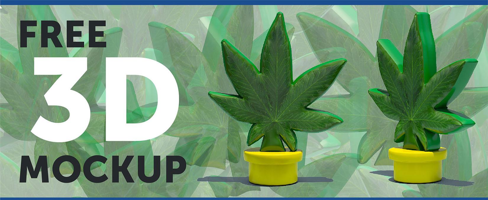 Marijuana-free-3d-rendering