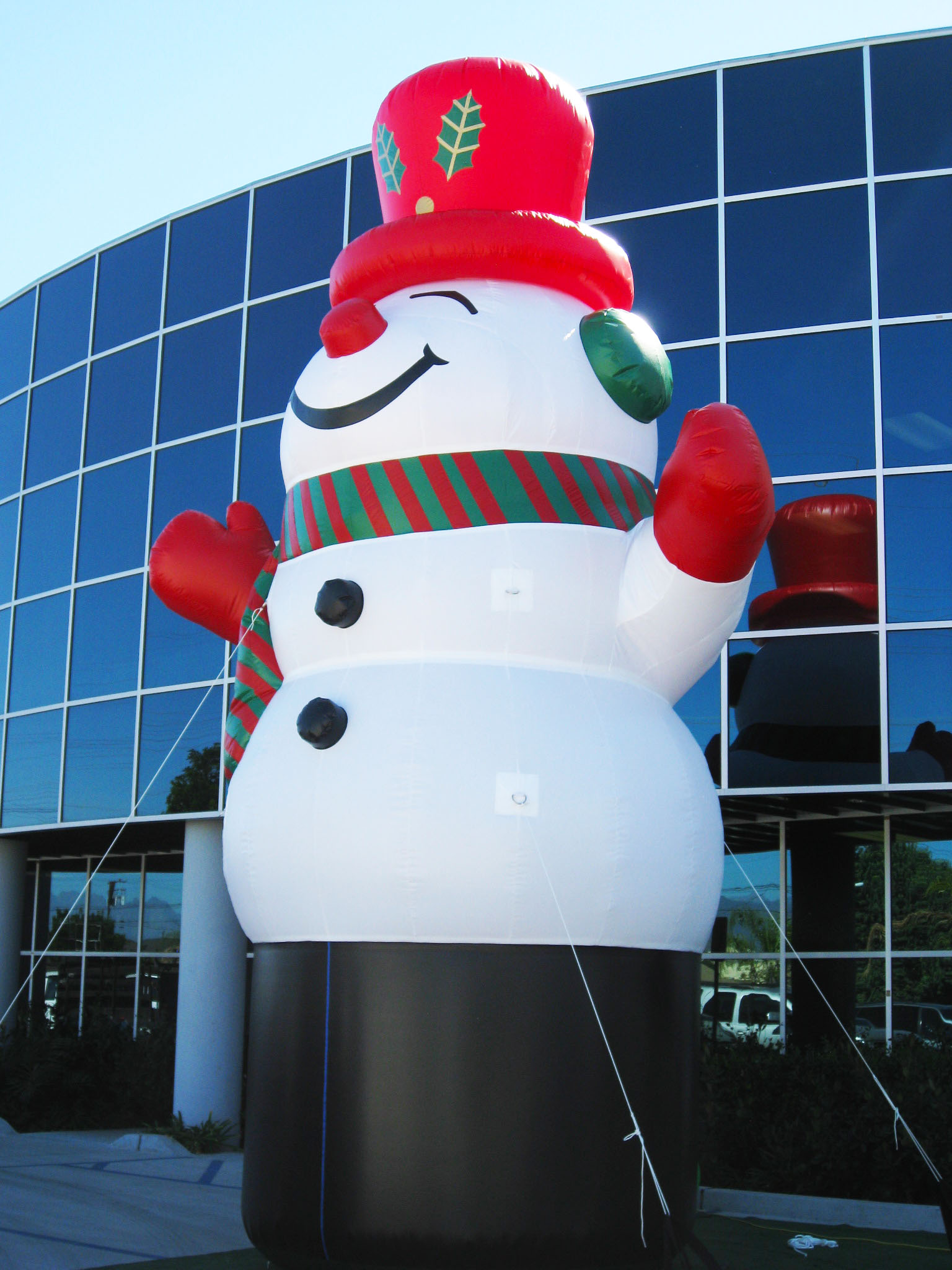 Giant Inflatable Snowman Prop