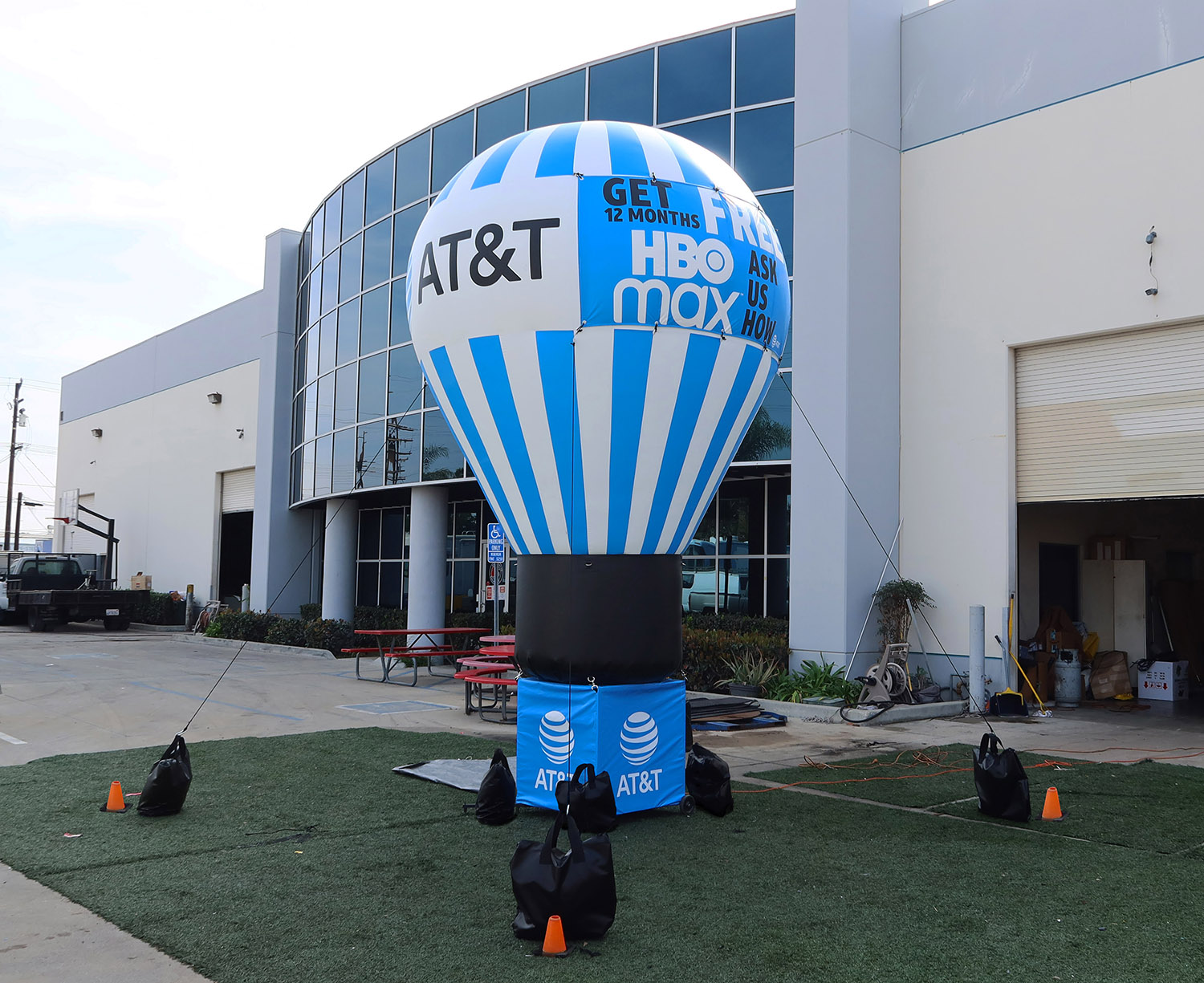 advertising balloon with custom banners